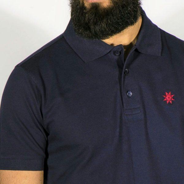 Polo-Shirt navyblau