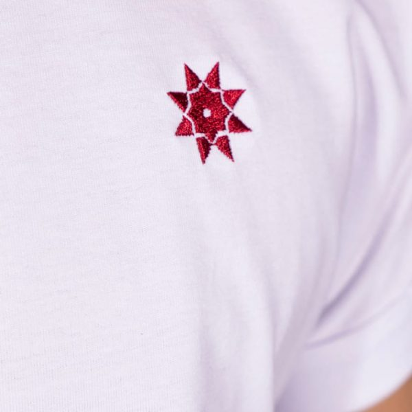 Polo-Shirt weiß mit gesticktem Logo