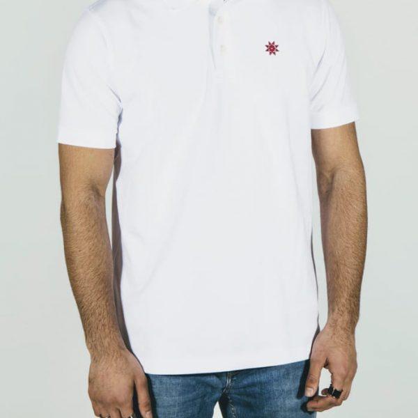 Polo-Shirt-weiß